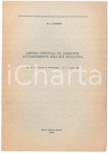 1970 Luciano SGARZINI Lesioni gengivali da condotte autoaggressive - Estratto