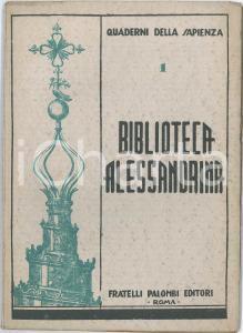 1930 ca Emilio RE Biblioteca Alessandrina - Quaderni della sapienza - PALOMBI