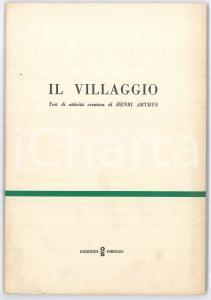 1968 Henri ARTHUS Il villaggio - Test di attività creativa - Editrice OS Psicodiagnostica
