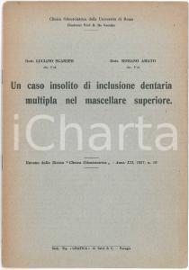1957 Luciano SGARZINI Romano AMATO Inclusione dentaria multipla - Estratto