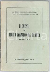 1957 Luciano SGARZINI Ulisse BIFANO Elementi di odonto-stomatologia pratica n.1
