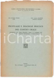 1957 Girolamo TULLIO Luciano SGARZINI Profilassi del cancro orale - Estratto
