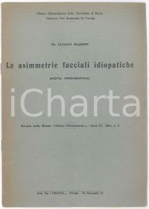 1956 Luciano SGARZINI Le asimmetrie facciali idiopatiche - Estratto