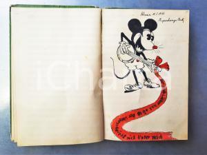 1942 HELSINKI Lotta Annilda VAKEVAINEN - Diario manoscritto dediche 150 pp.