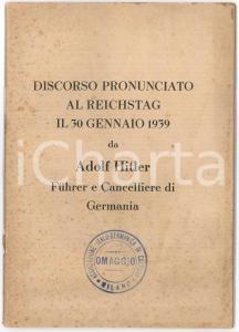 1941 WWII Discorso di Adolfo HITLER dopo la fine della Campagna Balcanica