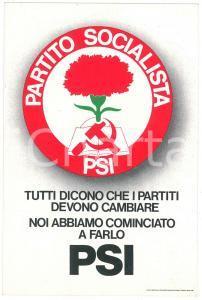 1978 PARTITO SOCIALISTA ITALIANO Cartolina nuovo simbolo *PROPAGANDA