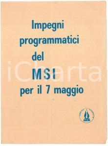 1972 Elezioni politiche - MSI Destra Nazionale - Pieghevole PROPAGANDA