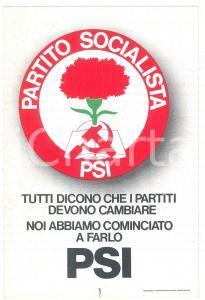 1978 PARTITO SOCIALISTA ITALIANO Cartolina nuovo simbolo - PROPAGANDA