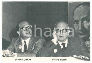 1968 Elezioni politiche - PSI /PSDI - CRAXI e NENNI *Volantino PROPAGANDA