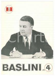 1968 Elezioni politiche - PLI MILANO - On. Antonio BASLINI *Biglietto PROPAGANDA