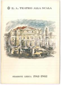 1955 MILANO Teatro ALLA SCALA Programma stagione lirica 1955-1956 ILLUSTRATO