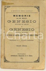 1897 Don. A. BORLANDELLI Memorie SS. Martiri Genesio di Arles e Genesio romano