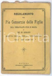1882 MOMO Regolamento Pio Consorzio Figlie Immacolato Cuor di Maria