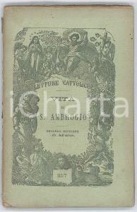 1878 Can. Tomaso CHIUSO Vita di S. Ambrogio - II edizione 128 pp.