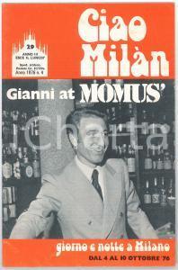 1976 CIAO MILÀN - Gianni GRASSO al pianobar del MOMUS - Rivista n. 29