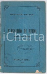 1866 Domenico BOLOGNESE/Errico PETRELLA L'assedio di Leida - Melodramma tragico