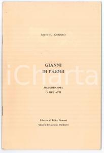 1920 ca. Gaetano DONIZETTI/ Felice ROMANI - Gianni di Parigi - Melodramma