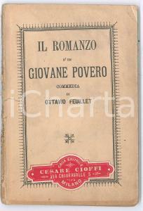 1913 Ottavio FEUILLET Il romanzo d'un giovane povero - Commedia *SALANI ed.