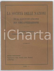 1927 GINEVRA La Società delle Nazioni - Ed. riveduta comprendente il