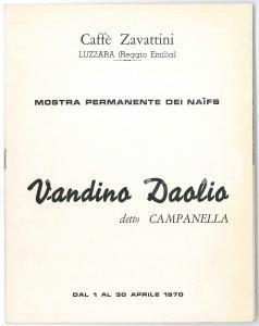 1970 LUZZARA Caffè ZAVATTINI - Mostra NAIFS - Vandino DAOLIO - Catalogo