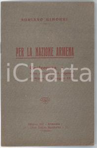 1916 Adriano GIMORRI Per la Nazione Armena - Conferenza - Invio AUTOGRAFO