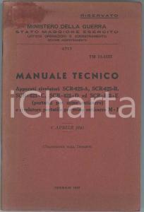 1947 MINISTERO DELLA GUERRA Manuale tecnico apparati rivelatori mine anticarro