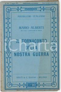 1915 Mario ALBERTI Adriatico e Mediterraneo Problemi italiani n° 5 *Ed. RAVÀ