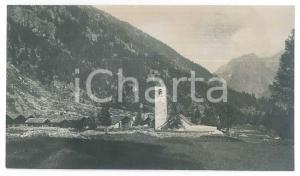 1905 ca Area di MACUGNAGA (VCO) Veduta - Foto VINTAGE 14x8 cm