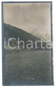 1920 Area di LIVIGNO - Veduta panoramica - Foto VINTAGE 9x14 cm