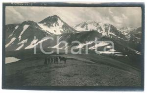 1920 Area di LIVIGNO - Veduta -  Foto VINTAGE ANIMATA 14x9 cm