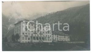 1905 ca MACUGNAGA (VCO) Grand Hotel MONTE MORO (2) Foto VINTAGE 14x8 cm