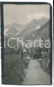 1920 Area di LIVIGNO - Escursionisti -  Foto VINTAGE ANIMATA 9x14 cm