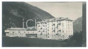1905 ca MACUGNAGA (VCO) Grand Hotel MONTE MORO (1) Foto VINTAGE 14x8 cm