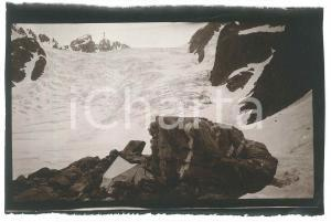 1913 CAUCASO - Accampamento di alpinisti presso un ghiacciaio - Foto 15x9 cm
