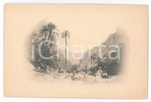 1900 ca COSTUMI - Paesaggio arabo - Veduta - Cartolina 12x8 cm