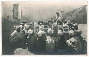 1930 ca BENGASI (LIBIA) Scuola coranica - Cartolina postale RPPC