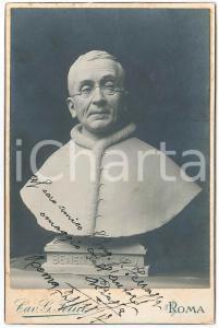 1920 ca Ritratto di papa BENEDETTO XV - Cartolina da foto cav. G. FELICI